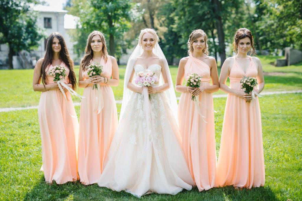 Свадебные платья подружек невесты фото